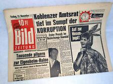 Bildzeitung vom 22.11.1957 * Korruption * zum 59. 60. 61. Geburtstag