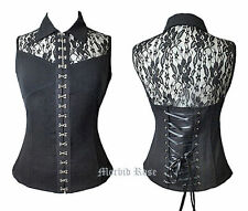 Lace Blouses Fitted Sleeveless Tops & Shirts for Women