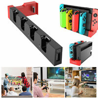 4 In 1 Controller Charging Dock Stand Wired Charger For Nintendo Switch Joy-Con