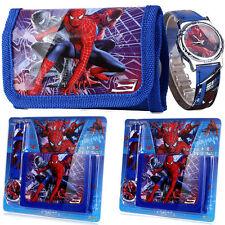 Spiderman Marvel Cartoon Child Boys Girls Kids Analog Quartz Wrist Watch Wallet