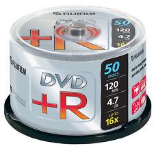 1x50 FUJI DVD+R Rohlinge WriteOnce 4.7GB 1x16x 120min Cakebox NEU(world*)000-907