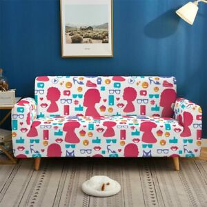 Stretch Sofa Cover 1-Seater Slipcovers for Living Room Sectional L Shape Paisley