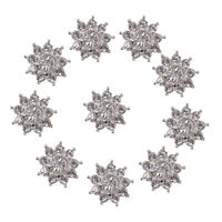 10pc Crystal Flower Rhinestone Buttons Flatback Embellishments Wedding
