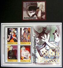 ANTIGUA & BARBUDA PICASSO STAMPS SHEET & SS 2003 MNH ART STAMPS THE DREAM FLOWER