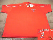 Los Angeles Anaheim MLB Rosso Majestic Poliestere Polo Golf Camicia Big & Tall