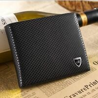Men Leather Wallet Bifold Credit Card Holder Brand Purse Money Clip Wallets