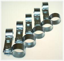 """5x Doppel-DIN-Schelle 42,5mm Stahl verzinkt 1.65"""" Zoll Strebenschelle Breitband"""
