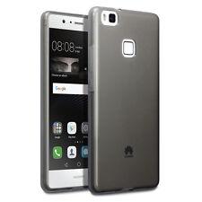 Huawei P9 Lite caso, Genuino Tech 2 Flex Gel Tpu rock de choque Cubierta Negro de Humo