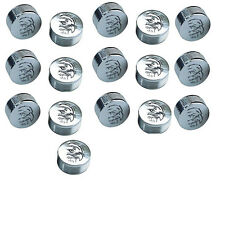 """CY-CHROME EAGLE DESIGN METAL BOLT COVERS; 1/4"""" Hex Head (pack of 16)"""