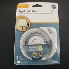 Ge 15076 Big Button Indoor Plug In 24 Hour Mechanical Timer Easy To Set