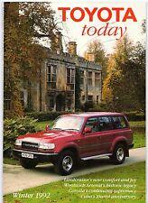 Toyota Today Magazine Vol 11 No 4 Winter 1992 UK Market Brochure Corolla Carina