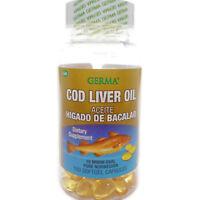 Germa Cod Liver Oil Pure Norwegian Omega-3 Heart Brain Aceite Higado de Bacalao