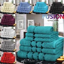 6 PIECE BATHROOM BALE TOWEL SET SOFT SATIN BATH 100% EGYPTIAN COTTON TOWELS
