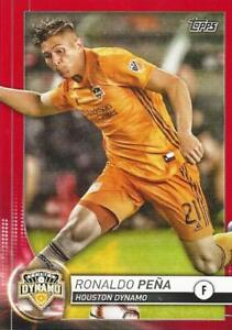 2020 Topps Major League Soccer Base Common Red Parallel Numbered to /10 (39-57)