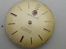 VERY RARE RADO WINDSOR 21 JEWEL SUPER FLAT WATCH MOVEMENT AND DIAL