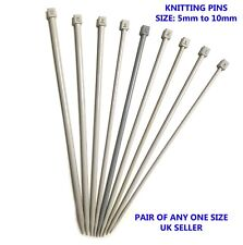 2 X Knitting Needles Pins 35cm Long Size from 5mm to 10mm Knitting Pin UK Seller