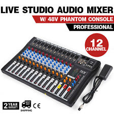 ELM CT-120S 12 Channel Professional Live Studio Audio Mixer USB Mixing Console