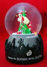 "Jack Skellington Santa Snowglobe NIGHTMARE BEFORE CHRISTMAS 6"" Musical Gift"