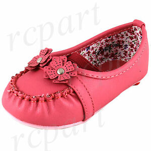 New Baby shoes slip on comfort elastic synthetic material pink flower girls