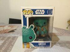 Funko pop Greedo Blue Box #07#. Star Wars. Vaulted.