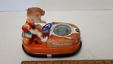 1960 SPEED STAR -Original Pressed Steel Battery Bumper Car - Near Mint Condition