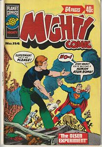 Australian: Mighty Comic #114 Planet Comics 1976 Superman Jimmy Olsen Lois Lane