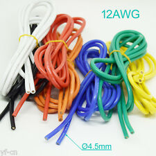 1M/3.3ft 12AWG Flexible Soft Silicone Wire Tin Copper RC Electronic Cable 7Color
