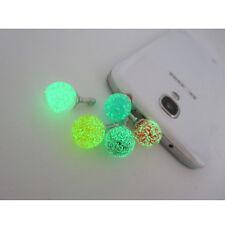 CA New Fashion Headset Ear Stopper Cute Cartoon Anti Dust Cap Plug  Glow In Dark