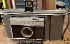 Vintage POLAROID LAND CAMERA MODEL J66 With CASE & FLASH UNIT