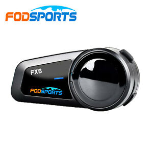 BT Motorcycle Intercom FX6 Helmet Bluetooth Headset FM 6 Riders 1000m Waterproof
