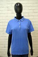 Polo Blu Donna TOMMY HILFIGER Taglia L Camicia Maglia Manica Corta Shirt Woman