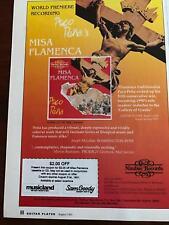 "1991 Vintage 5.25X7.5"" Album Promo Print Ad for Flamenco Paco Pena Misa Flamenca"