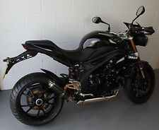 Speed Triple 08-09-10 SP Engineering Carbon Fibre Stubby Moto GP 3-1 Exhaust