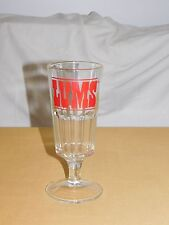 "VINTAGE  8 1/2"" HIGH OLD LAKE GEORGE NY RESTAURANT LUMS BEER GLASS"