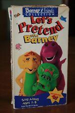 Barney & Friends Let's Pretend Sing Along Baby Bop BJ - 1993 VHS - RARE