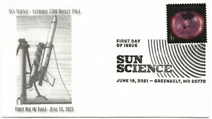 2021 Sc#5598 55¢ Sun Science Astrobee 1500 Rocket 1964 #1of10 First Day of Issue