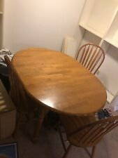 Authentic Malaysian Wooden Dining Table Set With Four Chairs Included