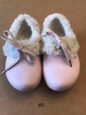 Girls Crocs Gretel Faux Fur Lined Pink Clogs Size C8/9