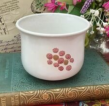 DENBY 1970s GYPSY STONEWARE SMALL SUGAR BOWL - PINK ABSTRACT FLORAL