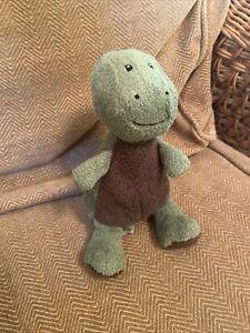 M&S Dinosaur Soft Plush Toy Comforter Dragon Green & Brown (a7)