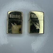 E Lot Vtg Retro Cigarette Lighters Winston Gold