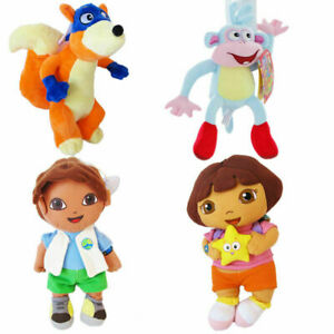 Dora The Explorer Boot the Monkey Swiper the Fox Diego Boy Soft Plush Doll Toy