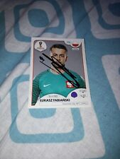 Panini Sticker WM 2018 signiert Lukasz Fabianski Polen NEU