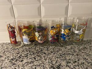 Vintage Muppets,McDonalds,Burger King, Flintstones Glasses 70s/80s Lot