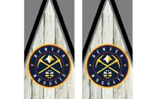 2 Denver Nuggets Cornhole Wraps -Pair of Board Decals - BASKETBALL - NBA