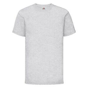 Plain Kids T-shirt fruit of the loom Girls Boys Tee Shirts Childrens Tshirt