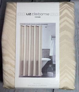 Liz Claiborne Home Passage Shower Curtain Fabric Heritage Ivory NEW 72 x 72
