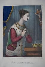 SAINTE ELISABETH REGINA - Lithographie vers 1850 - FASOLI & OHLMANN