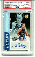 2018  PSA 10 Rick Barry /10 Gold Auto OPTIC Contenders Legendary