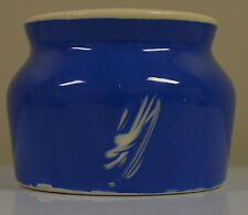 Blue Stoneware Candy Trinket Pot Dish Made in USA